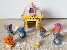 THE JUNGLE BOOK playset THE DISNEY STORE figures KING LOUIE small plush house