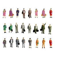 50Pcs 1:87 HO Escala Color Personas Figuras De Pie Modelo Tren Diseño