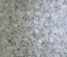 "50 Lbs ~3/8"" Clear Fireglass Fireplace Gas Fire Pit Glass Aqua tint"