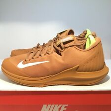 f9939c72454c Nike Men s Court Air Zoom Zero HC Tennis Flax Tan Beige Volt AA8018-200 Size