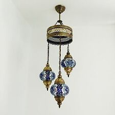 MOSAICO Turco, stile marocchino, Blue Star 3 Lampada Plafoniera UK Venditore
