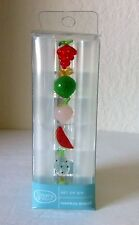 Gem Ware Set of 6 Glass Fruit Napkin Rings Taiwan Hand Wash NWT