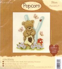 Popcorn Alphabet Counted Cross Stitch Kit PA44 Lettre Y