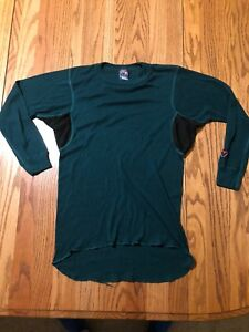 Duofold Vent-a-layer Thermal Top Green Large Base Layer US Made Pre Owned