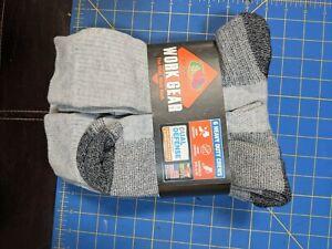 Fruit Of The Loom Mens Crew Work Gear Heavy Duty Socks Gray Large 6-Pair New