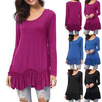Plus Size Women Autumn Long Sleeve Tops Ladies Pullover Loose Jumper Blouse CHEN