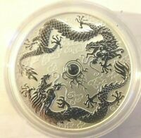 2019 Perth Mint Double Dragon Silver Bullion - 1oz Coin sold out good investment