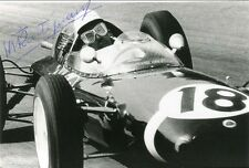 RACING DRIVER Maurice Trintignant FORMULA ONE autograph, signed photo