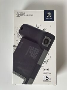 SHELLBOX Waterproof Diving Underwater Camera Case For iPhone & Samsung 15M, NIB