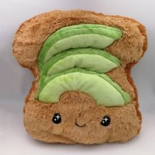 New Creative Avocado Toast Pillow Plush Toast Cushion Sofa Car Backrest Gift