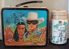 "Vintage 1980 ""LEGEND of the LONE RANGER"" Lunchbox & Thermos By ALADDIN! Nice!"