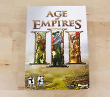 Age of Empires III 3 Disc Edition for PC Original Case Manuals Booklets