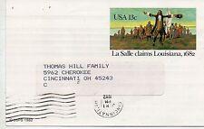 Estados Unidos Entero postal circulado año 1992 (DC-440)