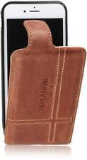 Apple iPhone 7/4.7'' Echt Leder Handy Tasche Flip Matador Konjak-Braun-2 Hülle
