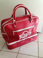 superbe sac a main sport  voyage vintage rouge sélection olympique   an 70's