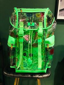 Gucci Backpack Green Clear PVC Made In Italy Special Edition