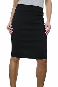 "Ladies School Office Pencil Skirt 22"" Smart Casual Black NEW 6-18"