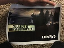 E3 2017 Exclusive Ubisoft Far Cry 5 Keychain + 8x10 Mini Poster Print Set Of 3