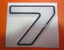 Pegatina Numero 7 3D Color Blanco Tamaño 100mm
