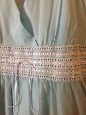 NWOT Calvin Klein WOMEN'S 100% Cotton SL Dress SIZE 16 NICE Blue Full Skirt