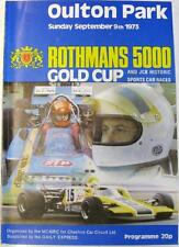 OULTON PARK 9th Sep 1973 Rothmans 5000 Gold Cup Motor Racing Official Programme