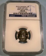 2015 NGC MS68 CANADA DIME BLUENOSE 10c MS 68