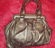 Cole Haan Silver Leather Handbag