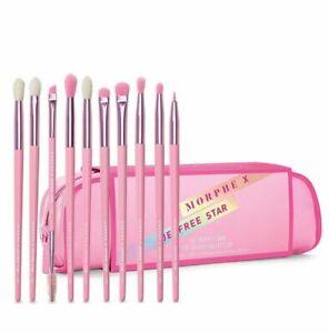Morphe X Jeffree Star Eye Brush Collection Set, 10 Brushes + Bag
