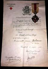 Orden Rotes Kreuz mit Verleihungsurkunde 1925