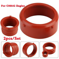 2pcs/Set Rubber Turb Intake Seal Engine Breather Seal For Mercedes-Benz OM642