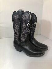 45330b8d31d Cowboy Boots Black Women's Square Toe for sale   eBay