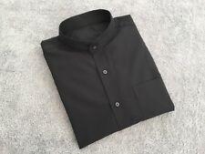 "Men's collarless long sleeve shirt 15"" collar"