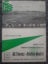 More details for fiorentina v atletico madrid 1962 cup winners cup final replay- very rare