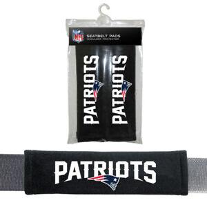 New England Patriots NFL 2 Pack Velour Seat Belt Shoulder Pads Car Auto Truck