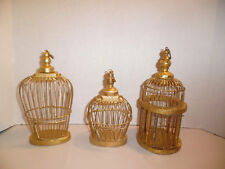 Gold Bird Cages Mini Size Set Of Three