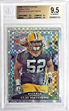 Clay Mathews Packers 2009 Topps Chrome RC XFRACTOR Rookie Beckett GEM MINT 9.5