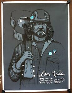 EDDIE VEDDER PEARL JAM March 24 & 25, 2008 Seattle Concert Poster By KLAUSEN