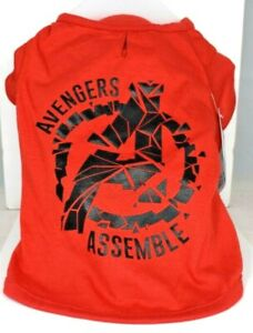 "Marvel Pet Fans Collection - Red Marvel ""Avengers Assemble"" Dog/Pet T-Shirt - XL"