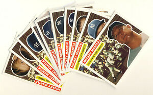 "2008 Topps Baseball ""Mickey Mantle Story insert set of 10 cards from MMS56-MMS65"