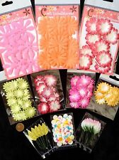 140 Flowers leaves Lot assortment Petal Leaf Handmade Mulberry Paper tropical 9