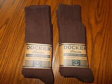 MENS DOCKER SOCKS LONG SZ 10-13 BROWN COLOR 6 PAIR FREE SHIPPING MADE IN USA