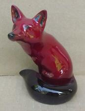Vintage Royal Doulton Flambe Setting Red Fox Figurine