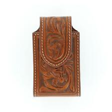 Nocona Western Cell Phone Case Holder Razor Tooled Tan N7465608