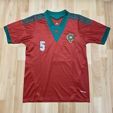 More details for vintage adidas morocco national team home football shirt size medium benatia #5