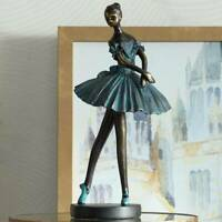 "Ballerina 12"" High Decorative Sculpture in Verde Bronze"