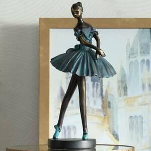 """Ballerina 12"""" High Decorative Sculpture in Verde Bronze"""