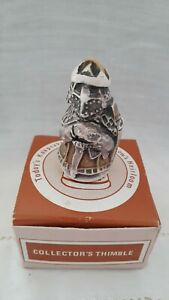 Vintage Thimble in Shape of a Knight