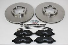 Original Brake Discs 12 1/8in + Brake Pads Front Ford Transit 2110200 +1916326