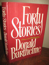 1st Edition FORTY STORIES Donald Barthelme FIRST PRINTING Flash Fiction CLASSIC