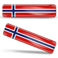 Autocollant 3D Drapeau Norvège Résine Norvègien National Norway Flag Sticker F15